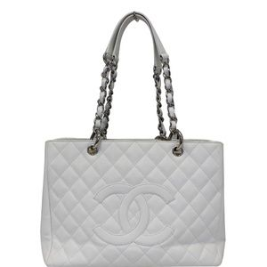 CHANEL GRAND SHOPPING CAVIAR LEATHER TOTE BAG